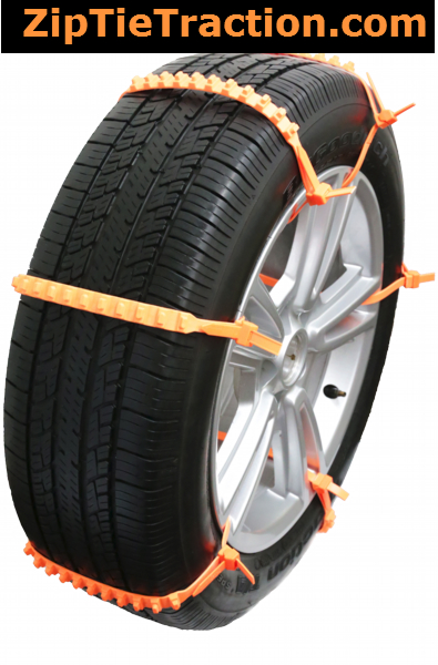 zip grip go emergency tire traction for snow or mud for car van truck. Black Bedroom Furniture Sets. Home Design Ideas